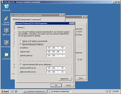 Windows Server 2003 Desktop