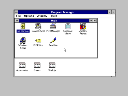 Windows 3.1 Desktop